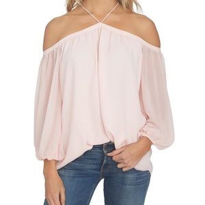 1. State Small pink off the Shoulder Blouse